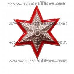 Stella Militare Argento 6 Punte Bordo Rosso