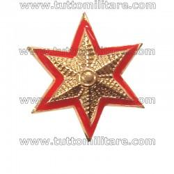 Stella Militare Oro 6 Punte Bordo Rosso