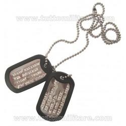 Piastrine Militari Originali Personalizzate US Dog Tags