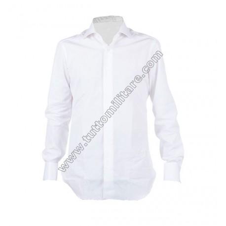 Camicia Bianca Gala Polsi Doppi per Gemelli