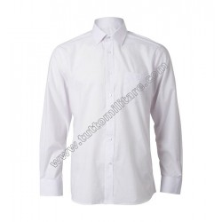 Camicia Bianca Manica Lunga Misto Cotone Polizia Marina Militare Carabinieri Polizia Locale