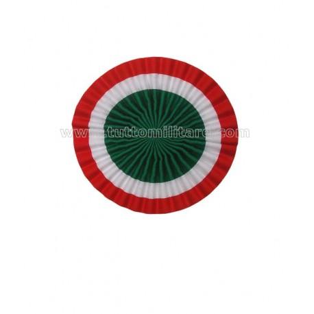 Coccarda Tricolore 10 cm. per Lucerna