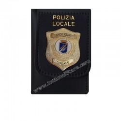 Portafogli con Placca Polizia Dorata