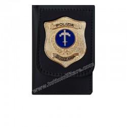 Portafoglio Polizia Giudiziaria su Placca Dorata