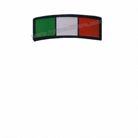 Scudetto Italia Mezza Luna Bordo Blu Con Velcro
