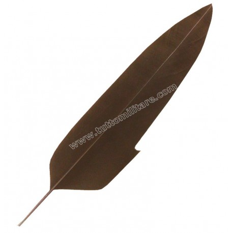 Penna d'Aquila Flessibile Marrone con Rimbecco per Cappello Alpino