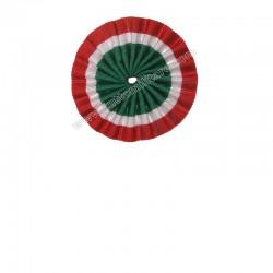 Coccarda Tricolore Italia diametro 8,5 cm.