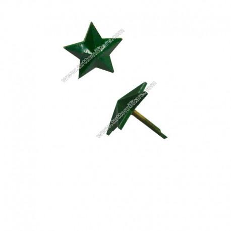 Stella in Metallo Verde a 5 Punte a Piccaglia