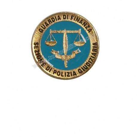 Distintivo Metallo Polizia Giudiziaria Guardia di Finanza