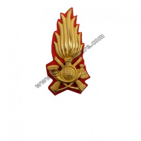 Fregio Metallico Comandante Guardia di Finanza su Panno Rosso