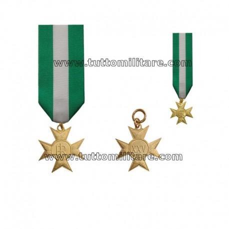 Croce Anzianità Servizio 25 anni Ufficiali e Sottufficiali