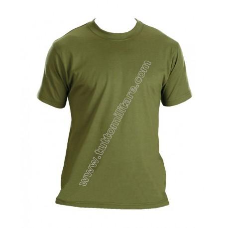 Maglietta Cotone Manica Corta Verde Oliva