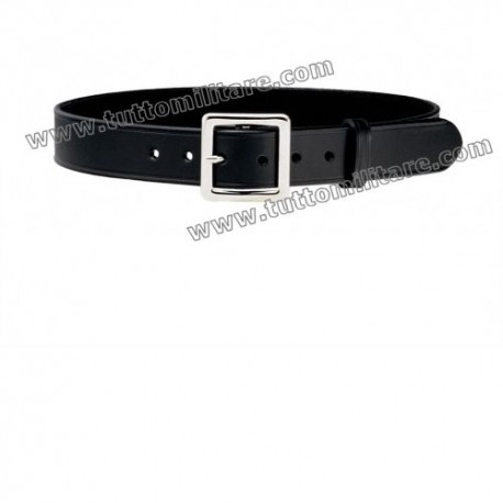 Cinturone Pelle Nera con Fibbia 4 cm ad Ardiglione