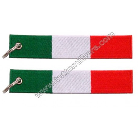 Portachiavi ricamato Italia