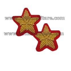 Stelle Ricamate Oro su Rosso per Luogotenente