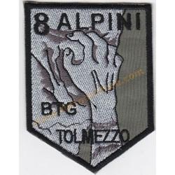 Scudetto Ricamato Battaglione Alpini Tolmezzo