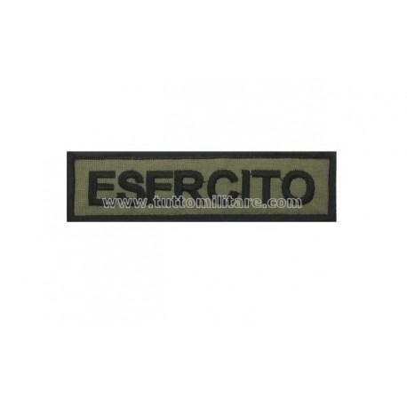 Targhetta Ricamata Esercito Fondo Verde Oliva con Velcro