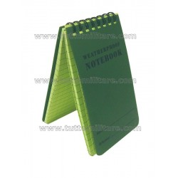 Bloc Notes Waterproof Verde Oliva