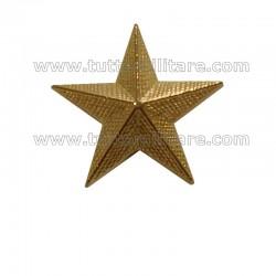 Stella Militare Zigrinata in Metallo Oro a Vite a 5 Punte cm. 2,5