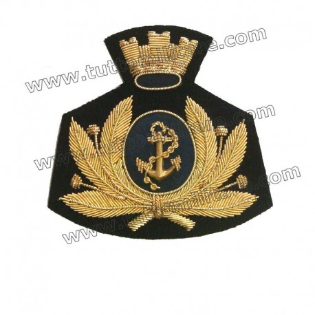 Fregio Marina Militare per Berretto Rigido Maschile