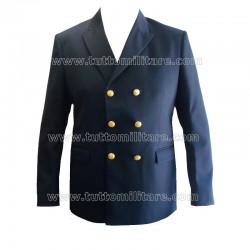 Giacca Doppiopetto Blu Marina Militare