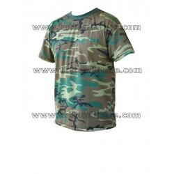 Maglietta T-Shirt Woodland Camo