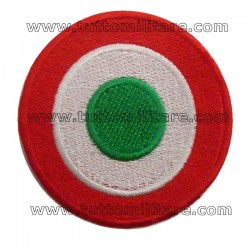 Coccarda Tricolore Italia Ricamata