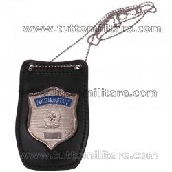 Portaplacca con Placca Polizia Operativa e Catenina