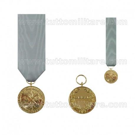 Medaglia Benemerenza Oro Ordine Costantiniano di San Giorgio Ramo Napoletano