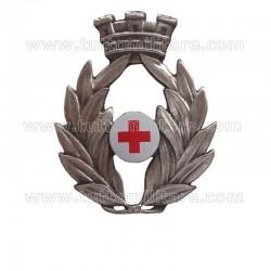 Fregio Basco Ufficiale Corpo Militare Croce Rossa