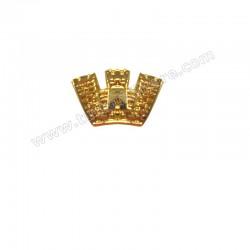 Coroncina Turrita Oro per Nastrini Militari