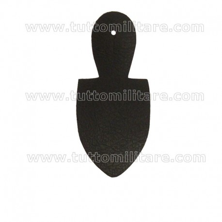 Portadistintivo scudetto in pelle nera