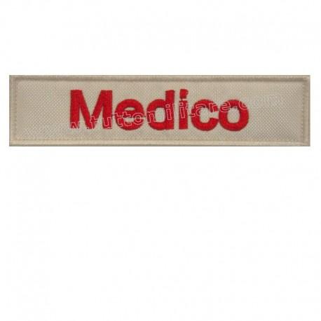 Targhetta Medico Ricamata con Velcro