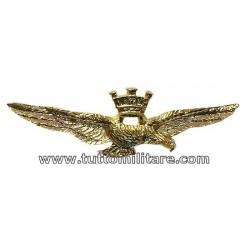 Brevetto Metallo Aquila Pilota Aeronautica Militare