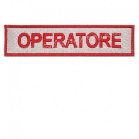 Targhetta Ricamata Operatore