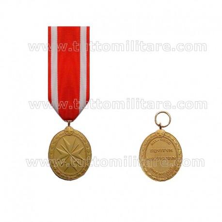 Medaglia Oro Pro Merito Melitensi Con Spade