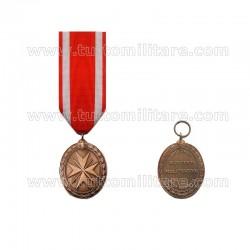 Medaglia Pro Merito Melitensi Con Spade Bronzo