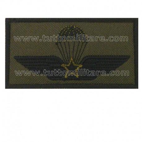 Distintivo Ricamato Paracadutista Militare Bassa Visibilità
