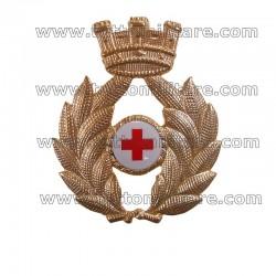 Fregio Metallo Berretto Corpo Militare Croce Rossa
