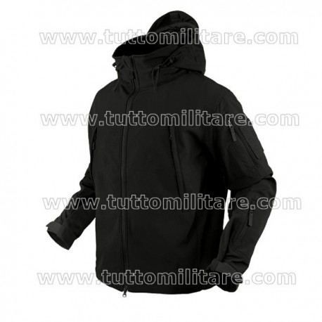 Giubbino Tattico Soft Shell Nero