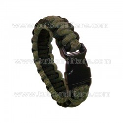Braccialetto Paracord Double Cobra OD-Black