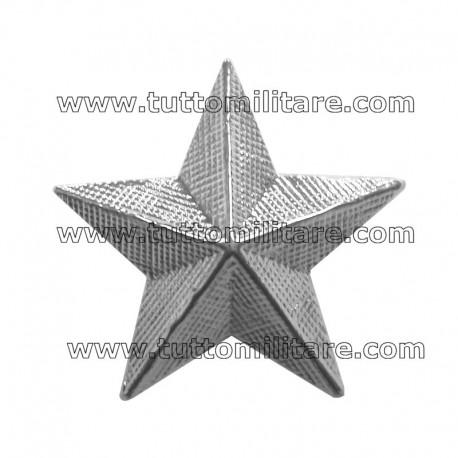 Stelloni Zigrinati in Metallo Argentato