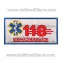 Targhetta Ricamata 118 Soccorso Sanitario