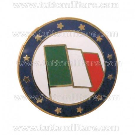 Distintivo Pin Bandiera Italia UE