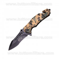 Coltello MTech Pieghevole Spring Black Blade