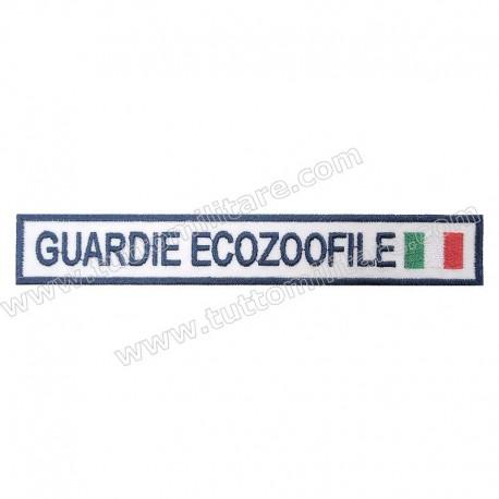 Targhetta Ricamata Guardie Ecozoofile