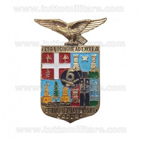 Distintivo 6 Artiglieria Montagna Cadore