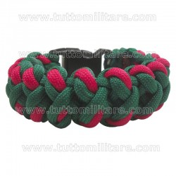 Braccialetto Paracord 550 Green Red Turtle