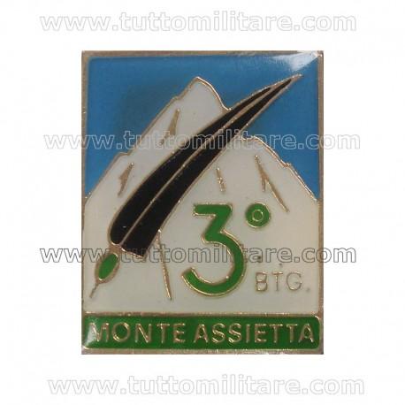Distintivo Alpini 3 Btg Monte Assietta