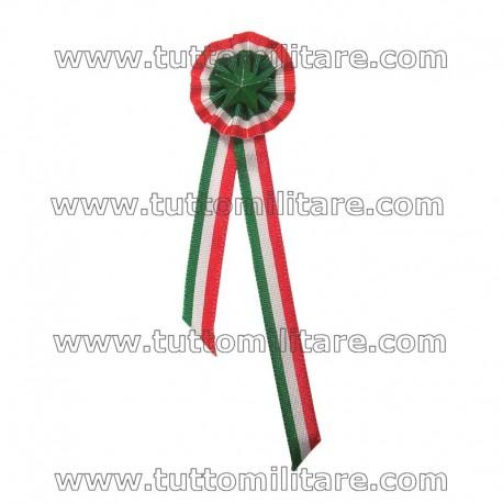Coccarda a Due Code Tricolore Italia
